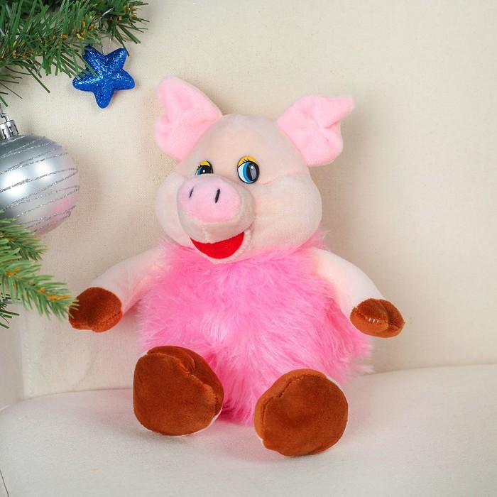 """Мягкая игрушка """"Свинюшка пушистое тельце"""""""