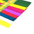 Набор бумаги крепированной 10шт 8цв 50*200см плотность-17 г/м 10 рулонов в пакете МИКС