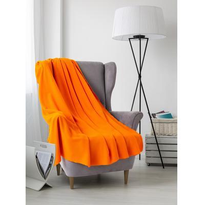 "Plaid ""and I Save the"" Orange 150х130 cm, density 160 g/m2 100% p/e"