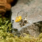 "Keychain mascot ""Lily"", natural amber"
