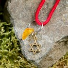 "Charm bracelet ""the Red thread. The star of David"" pendant, amber"