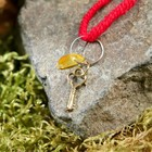 "Charm bracelet ""the Red thread. Key"" pendant, amber"