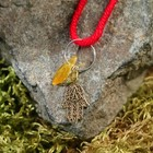 "Charm bracelet ""the Red thread. Hamsa"" pendant, amber"