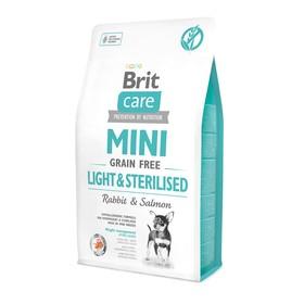 Сухой корм Brit Care MINI GF Light & Sterilised для собак мини-пород, беззерновой, 2 кг.