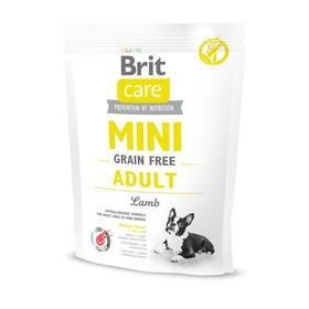 Сухой корм Brit Care MINI GF Adult Lamb для собак мини-пород, беззерновой, 400 г.