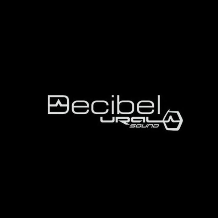 Фирменная наклейка «Decibel», белая, 30х9.8