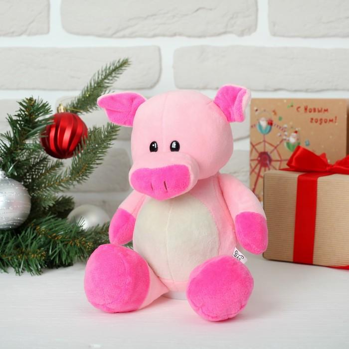 """Мягкая игрушка-копилка """"Розовый свин"""""""