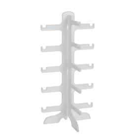 Подставка под очки 15.5*14*31 см, пять ярусов, цвет белый Ош