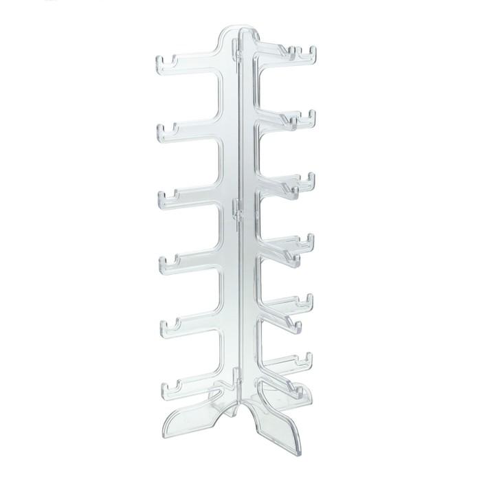 Подставка под очки 16*14.5*35.5, шесть ярусов, прозрачная