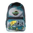 Рюкзак школьный с эргономической спинкой Luris Тимошка 37x26x13 см для мальчика, «Авто»