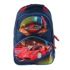 Рюкзак школьный с эргономической спинкой Luris Антошка 37x26x13 см для мальчика, «Авто красное»