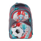 Рюкзак школьный с эргономической спинкой Luris Антошка 37x26x13 см для мальчика, «Футбол»