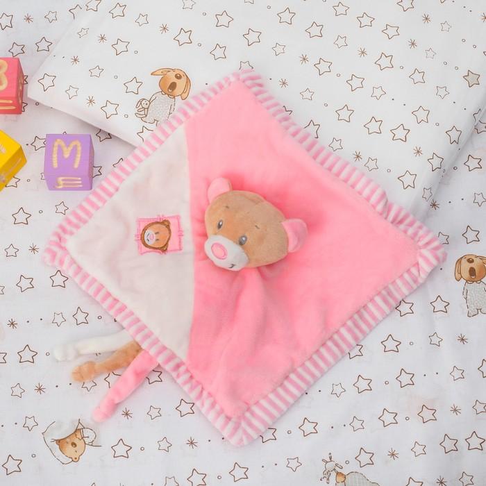 Игрушка для новорождённых «Медвежонок», розовый носик - фото 105499227