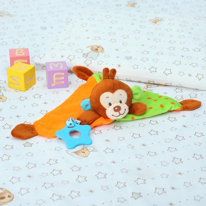 Игрушка для новорождённых «Обезьянка», с грызунком