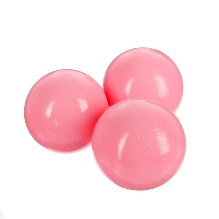 Шарики для сухого бассейна с рисунком, d=7,5 см, 90 штук, цвет розовы