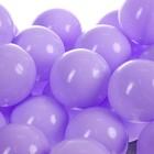 Шарики для сухого бассейна с рисунком, диаметр шара 7,5 см, набор 90 штук, цвет сиреневый