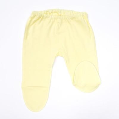 Ползунки детские, рост 50 см, цвет жёлтый