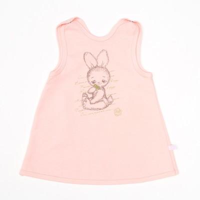Платье-сарафан для девочки, рост 80 см, цвет розовый