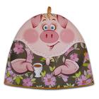 новогодние грелки на чайник с символом «Свиньи»