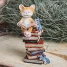"Сувенир полистоун ""Котенок на книжках"" 8,5х6,5х15 см"