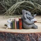 "Сувенир полистоун ""Ученый слон"" 10,7х4х6 см"