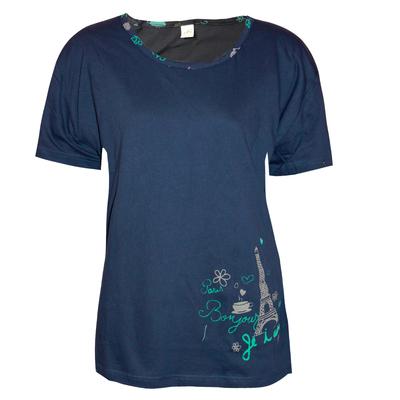Футболка женская, цвет тёмно-синий, размер 58