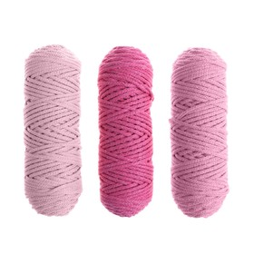 Cord for knitting 3mm 100% cotton, 50m / 85gr, 3pcs set (Set 8)