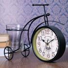 Часы настольные серия Ковка. Велосипед ретро, кашпо в комп-те, 1 АА, чёрный, 11х30х22.5 см