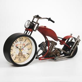 "Часы настольные ""Ретро мотоцикл"", 32х15х10 см, микс"