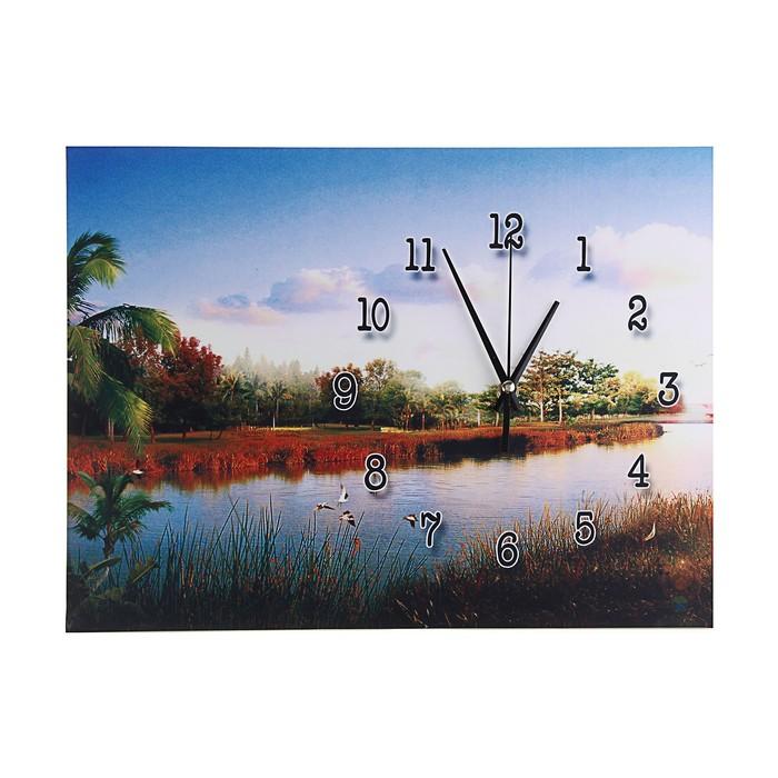 """Настенные часы-картина """"Райское место"""", 30 × 40 см"""
