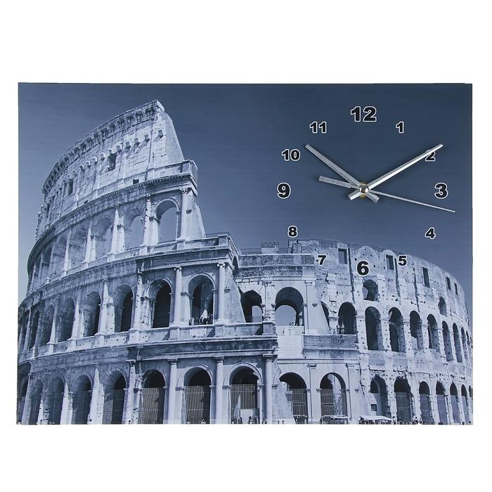 """Часы настенные картина """"Колизей"""""""