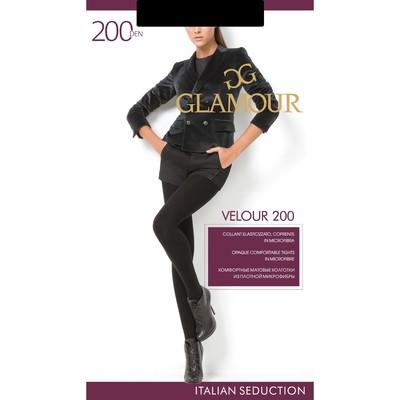 Колготки женские GLAMOUR Velour 200 цвет чёрный (nero), р-р 3