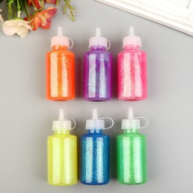 "Glitter glue in the bottle ""Neon glitter"" MIX 60 ml 9,5x3,5x3,5 cm"