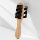 Щётка для одежды и обуви трёхсторонняя, деревянная с ручкой, 17×5,5×4,5 см