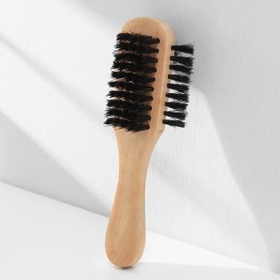 Щетка для одежды и обуви деревянная с ручкой,3-х сторонняя 17х5,5х4,5 см