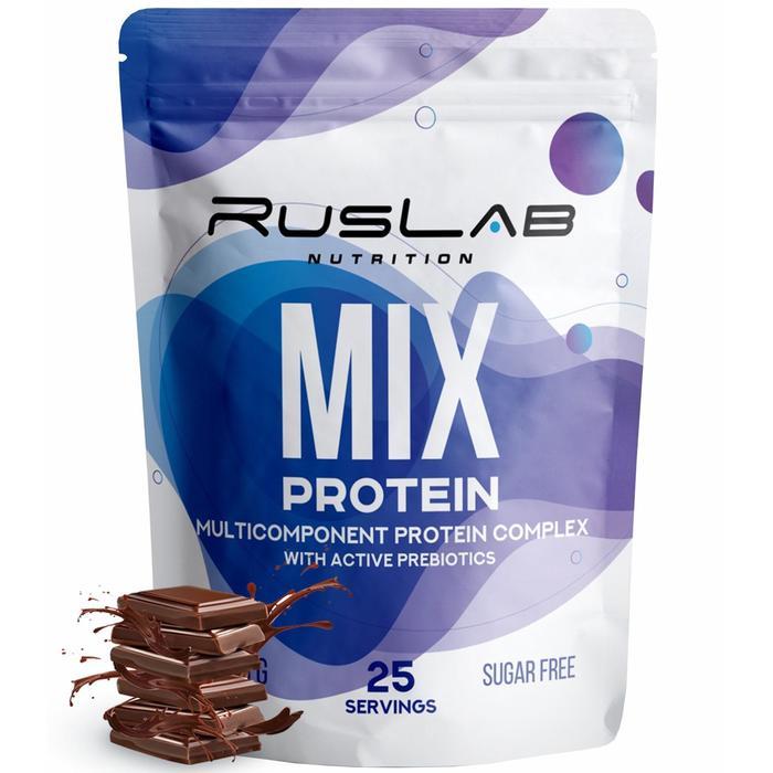 Протеин RusLabNutrition Multi Protein 70% (800 г) шоколад - фото 174958466