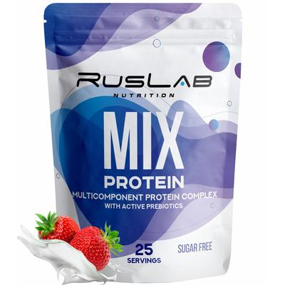Протеин RusLabNutrition Multi Protein 70% (950 г) клубника