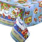 """Скатерть рогожка """"Новогодняя открытка"""" 145х180 см, синий, 160 г/м2, хлопок 100%"""