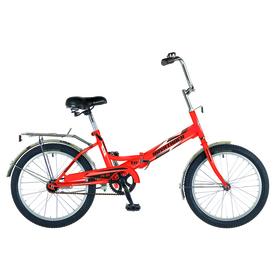 """Велосипед 20"""" Novatrack FS30, 2018, 1ск., цвет оранжевый"""