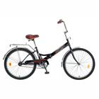"""Велосипед 24"""" Novatrack FS30, 2016, 1ск., цвет черный"""