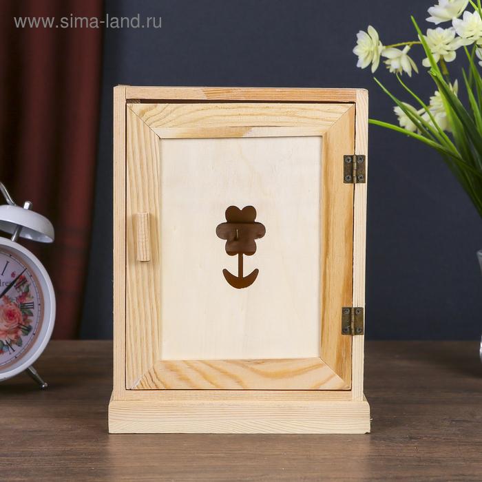 """Ключница для росписи """"Цветок"""" на 6 крючков"""