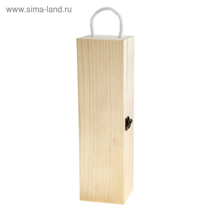 Шкатулка под бутыль деревянная для росписи