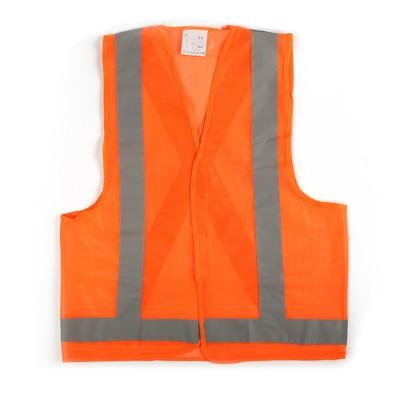 The motorist vest, orange, size XXL, 68 x 58 cm, Velcro