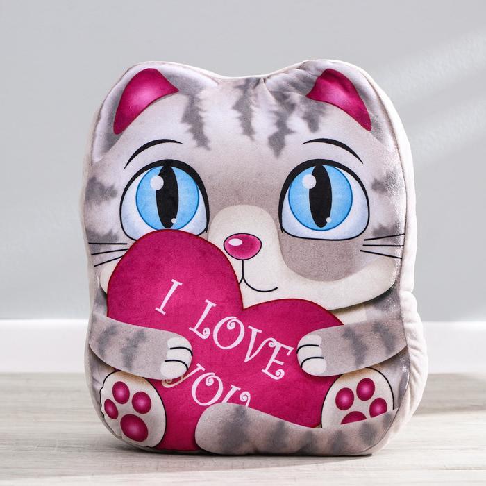 Мягкая игрушка «Котик», с сердцем
