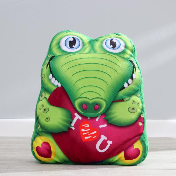 Мягкая игрушка «Крокодил», с сердцем