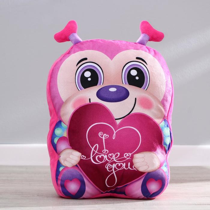 """Мягкая игрушка """"Розовая пчёлка"""" с сердцем"""