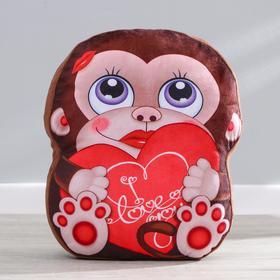 Мягкая игрушка «Обезьянка», с сердцем в Донецке