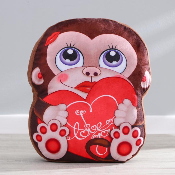 """Мягкая игрушка """"Обезьянка"""" с сердцем"""