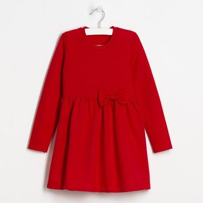 """Платье """"Маки"""", красн, р-р 32 (110-116 см) 5-6 лет., 100% хлопок"""
