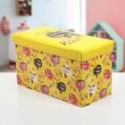 """Короб для хранения 60×30×35 см """"Алоха"""", цвет жёлтый"""
